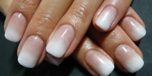 unghii french ombre